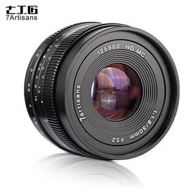 Abertura Grande Lente Câmera Foco Manual De 7artisans 50mm
