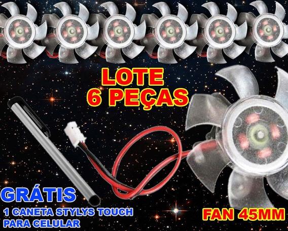6 Peças Cooler Fan 45mm Placa Video Nvidia Amd Pc Ventoinha