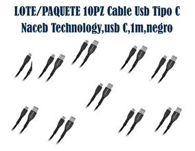 Lote/paquete 10pz Cable Usb Tipo C Naceb Technology,usb C,1m