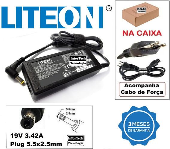 Fonte Carregador Notebook Itautec 19v 3.42a Nova!