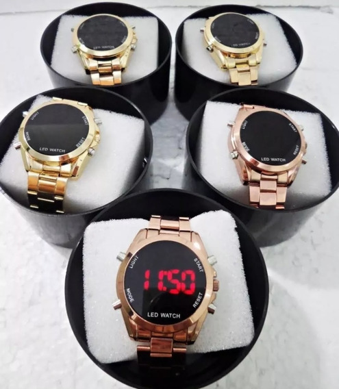 Kit 10 Relógios Feminino Metal Digital+caixa Atacado/revenda