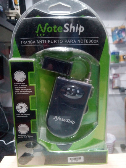 Trava De Segurança Para Notebook Com Segredo - Noteship