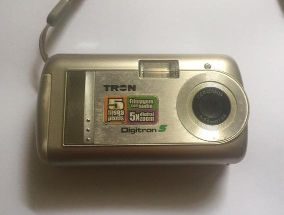 Camera Digital Antiga Tron Digitron + Capinha Proteção Usado