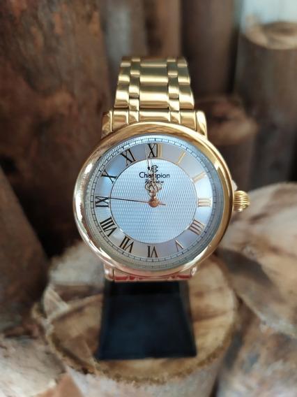 Relógio Champion Passion Fem - Cn29936h - Dourado - Original