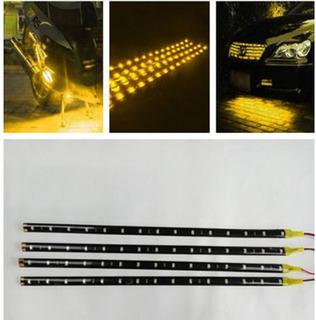 Tiras Led Par Carro Moto Barra 30cm Luz Amarilla