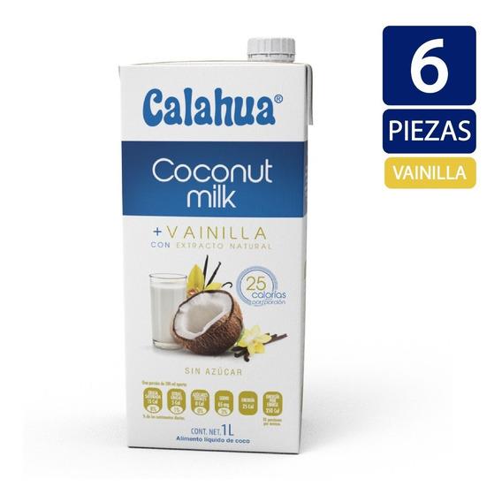 Leche De Coco + Vainilla Calahua 1 Litro - 6 Piezas