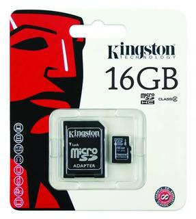 Cartão Memória Micro Sd 16gb Kingston Classe 10 Original