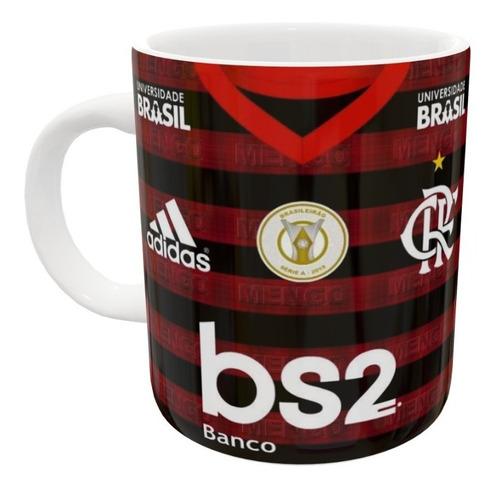 Imagem 1 de 2 de Kit 90 Caneca De Porcelana Flamengo