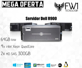 Servidor Dell R900 / 4x Quad Core / 64gb Ram / 600gb Hd