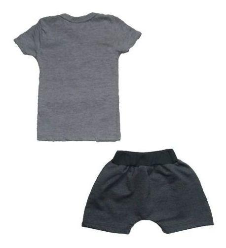 Conjunto Manabana Curto Infantil Bebê Menino 2 Peças Verão
