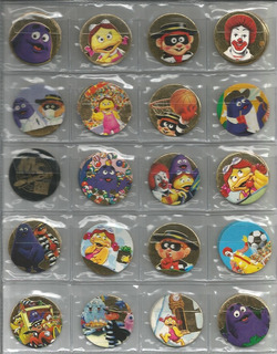 Ano 199? Lote Com 10 Tazos Da Coleção Mcdonald´s Mc Discs