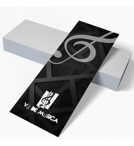 Imagem 1 de 1 de 500x Marcador De Página Personalizado 5x18cm Couche Brilho