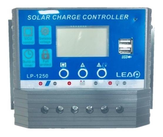 Controlador De Carga 60a 12v/24v Regulador Sistema Solar Lp