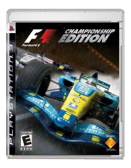 F1 Championship Edition Ps3 Midia Fisica Pronta Entrega