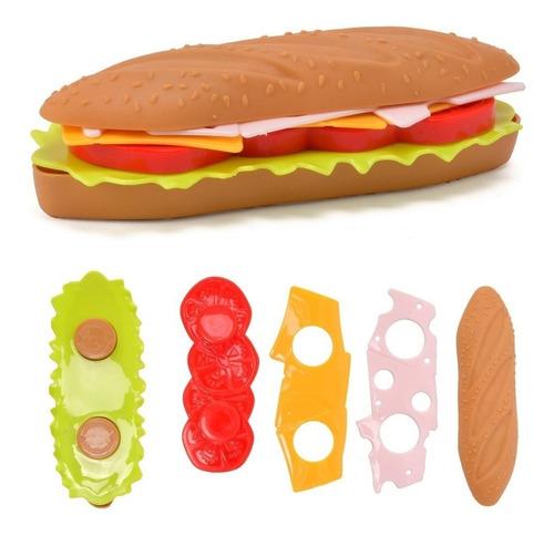 Imagen 1 de 3 de Juego Encastre Sandwich Didáctico Cocina Niños Ingenio