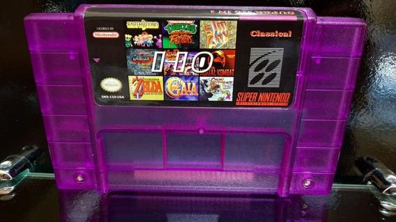 Fita / Cartucho Super 110 In 1 Jogos Super Nintendo Salvando