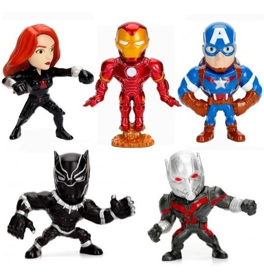 Boneco Metals Die Cast Herois Dc Viloes Marvel 6 Cm Original