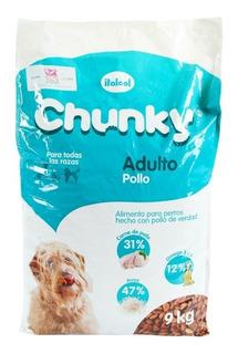 Concentrado Exclusivo De Pollo Para Perros Chunky 9 Kg Hs