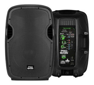 Bafle Activo Pro Bass Elevate Bluetooth Sd Usb Woofer 15 Xlr