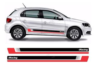 Adesivo Volkswagen Gol G3 G4 G5 G6 Faixa Lateral Par Gol10