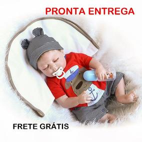 Bebê Reborn Menino Recém Nascido Realista 100% Silicone