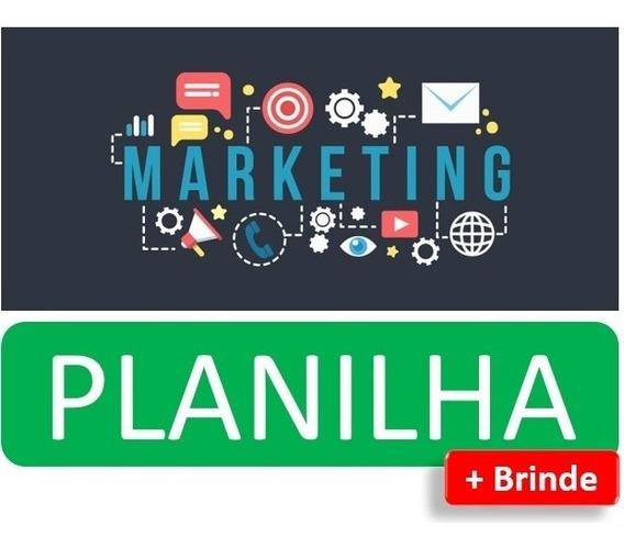 Planilha Métrica Para Marketing Digital + Brinde Calendário