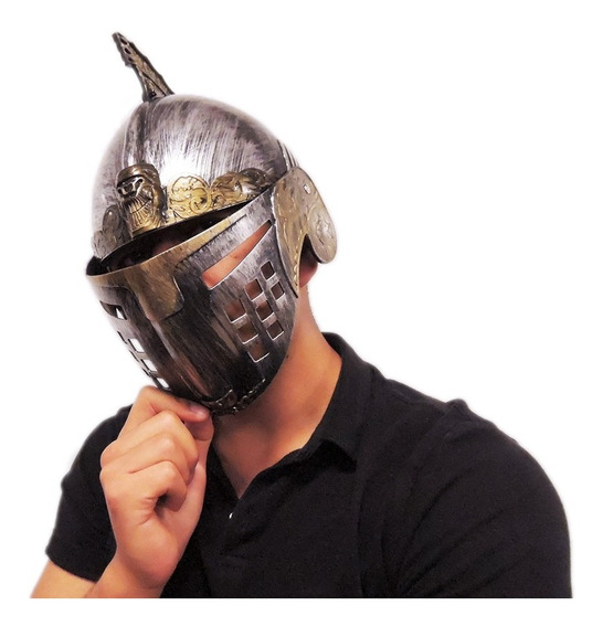 Casco Romano Caballero Medieval Adulto Disfraz Yelmo Plástic