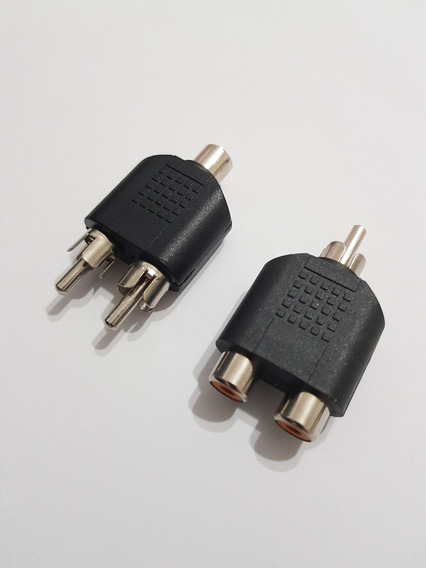 Connector 2 X Fêmea 1 X Macho Audio Video Av Rca Adaptador