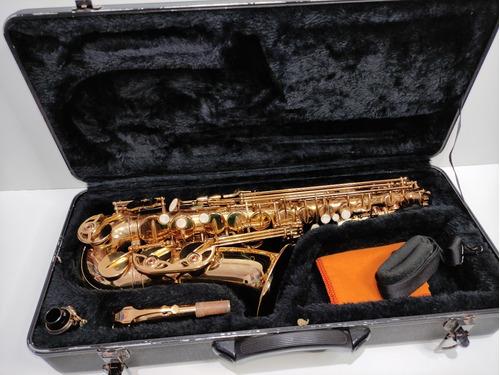 Saxofone Mib Custom Mr Alto Dourado Original Completo