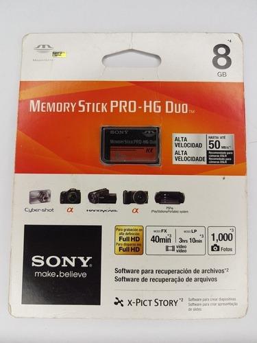 Cartão De Memória Sony Memory Stick Pro 8gb Original Lacrado