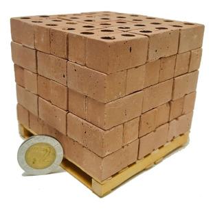 Ladrillos Miniatura Perforados Para Pegar Tarima Con 108 Pz
