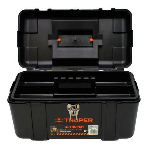 Imagen 1 de 4 de Caja Para Herramienta 17 PuLG Truper Chp-17x Reforzada Calidad Industrial Negro Mv Electronica