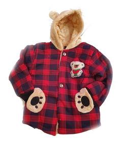 Jaqueta Infantil Menino Forrado Pelucia Frio Intenso Urso