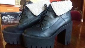 Zapatos Con Cordones Y Piel Sintetica