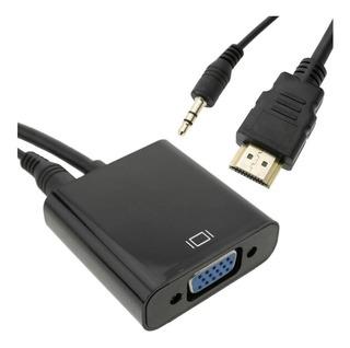 Cable Adaptador Hdmi A Vga + Audio Conversor Para Notebook