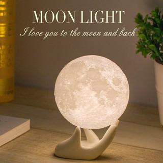 Adorno Lampara Lunar Blanca Carga Usb 9cm Estante Mydethun