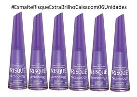 Risque Verniz Extra Brilho 8ml Caixa 06 Esmaltes