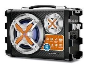 Caixa De Som Mondial 80w Bluetooth 1 Microfone - 8245-01