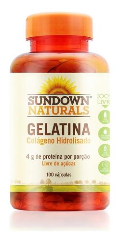 Imagem 1 de 4 de Gelatina Colágeno Hidrolisado 100 Cápsulas Sundown Naturals