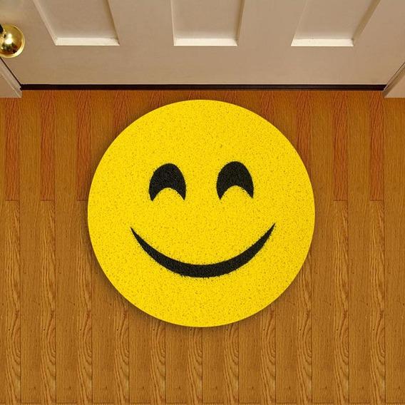 Tapete Capacho Criativo Emoji Sorriso