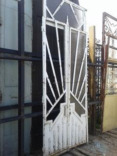 Puerta De Ingreso / Frente De Hierro Antigua Tarjetas