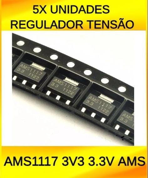 5 Unidades Regulador Tensao Ams1117 3v3 3.3v Ams