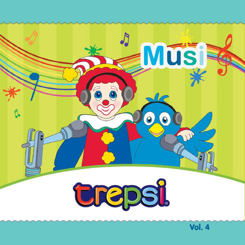 Cd Vol 4 Trepsi El Payaso Musica Infantil Niños Musi