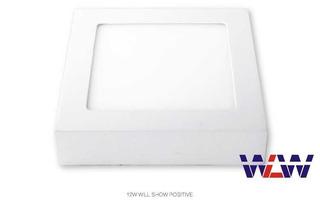 Painel Sobrepor 25w Quadrado Branco Frio