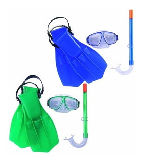 Kit Snorkel Pata Rana Y Antiparra 7 A 14 Años Pileta Playa