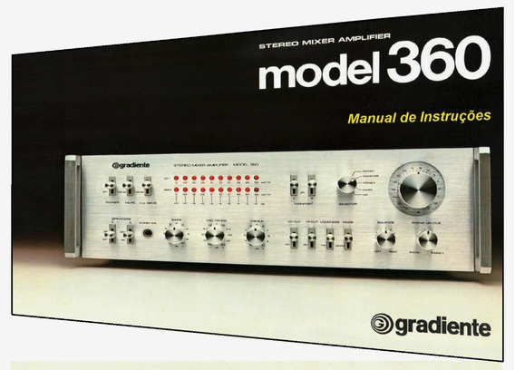 Manual Do Amplificador Gradiente Model 360 (cópia Colorida)