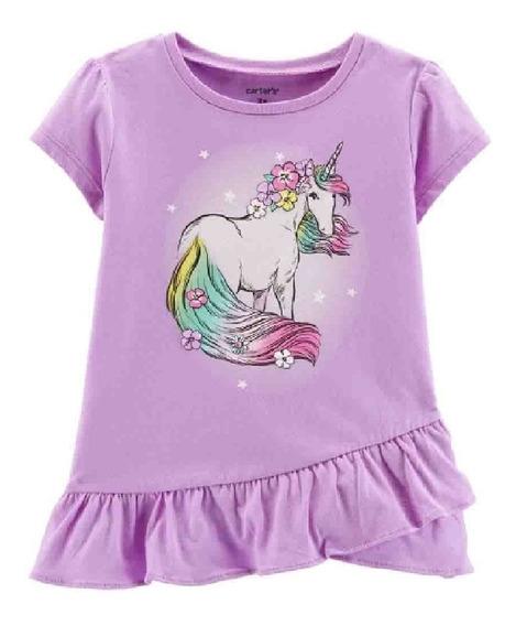 Playera Unicornio Carters Para Niña 4 Años