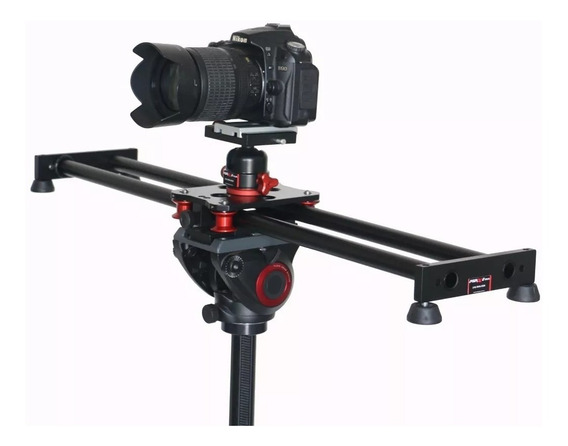 Slider Youtuber Dslr Filmadoras Canon Sony 70cm + Cabeca