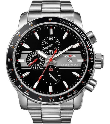 Relógio Masculino Weide Prata Wh3313-3c