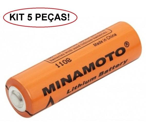 Bateria Er14505 Minamoto 3,6v Aa - Kit 5 Unidades Lithium